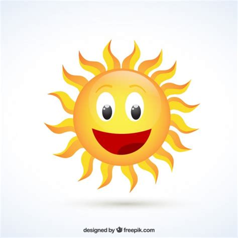 happy sun vector premium download