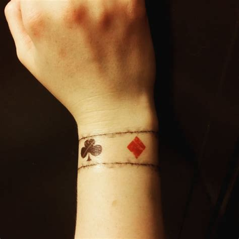 tattoo on wrist direction one direction inspired playing card wrist tattoo louis