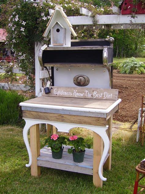 old potting bench