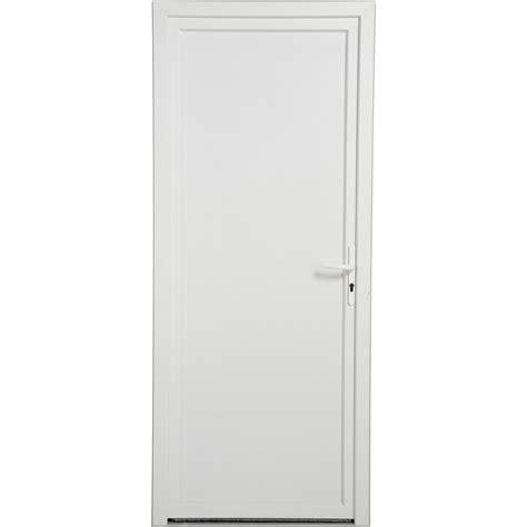 porte de service pvc poussant droit h 200 x l 80 cm