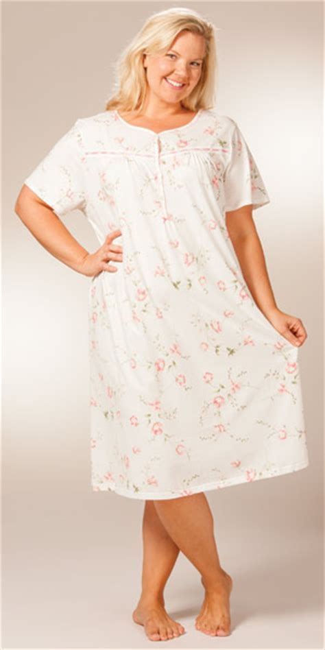 cotton knit nightgowns plus size sleepwear dresses eileen west nightgowns sale plus