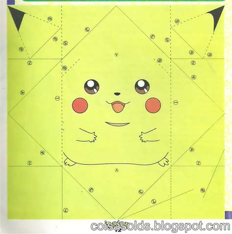 Origami Paper Template - origami pikachu diy crafts origami search