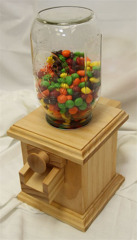 Handmade Wood Projects - made wooden dispenser m m peanut skittles