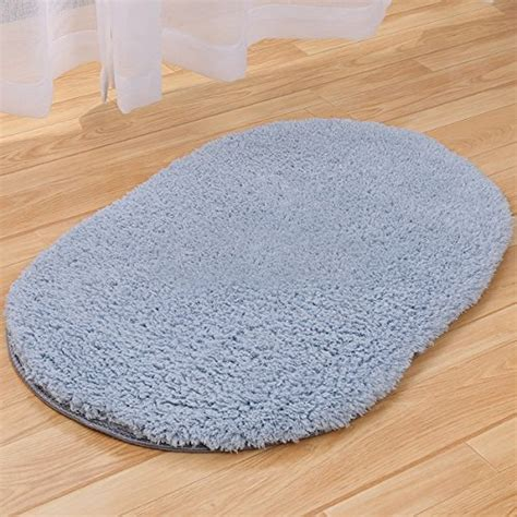 Oval Bath Rugs Vdomus 174 Oval Luxury Bath Mat Rug Grey Home Garden Bathroom Accessories Mats Rugs