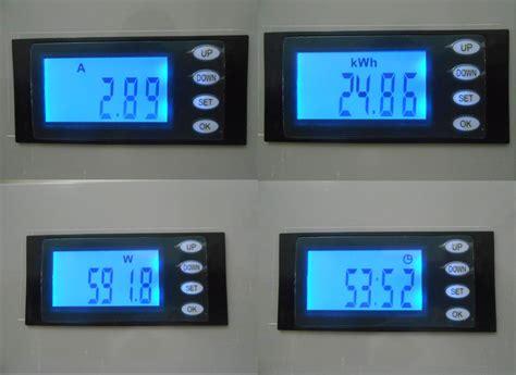 Meter Listrik Digital jual digital volt watt ere kwh meter voltmeter ac 220v 100a ammeter arfanstore