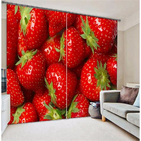 Strawberry Kitchen Curtains Strawberry Kitchen Curtains Promotion Shop For Promotional Strawberry Kitchen Curtains On