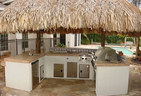 Outdoor tiki bar home design by fuller
