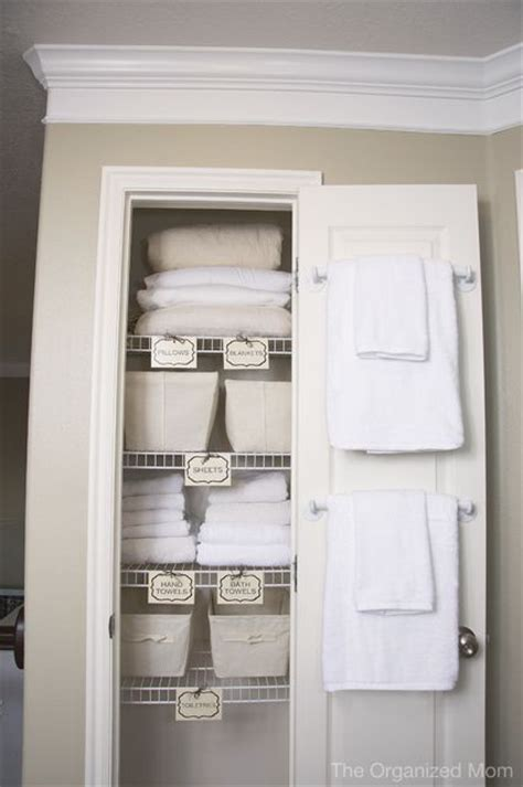How To Organize Towels In A Closet by 25 Best Small Linen Closets Ideas On Bathroom