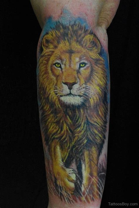 forearm lion tattoo tattoos designs pictures page 31