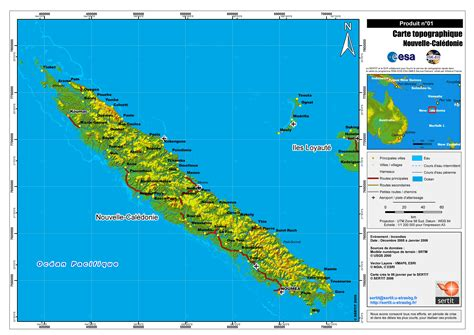 map of new caledonia and australia large detailed topographical map of new caledonia with all