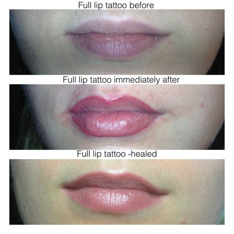 tattoo lips aftercare before after healed permanent lips urban beauty lounge