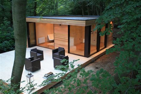 Slough Sheds by Efficient Modern Studio In The Woods