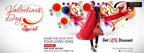 Valentines Offer At Collection by Meeshan Valentines Collection 2014 Special Discount Offer