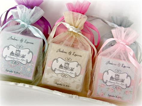 shabby chic wedding favors soap favors set of 10