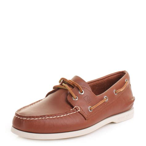 mens sperry authentic original leather boat deck