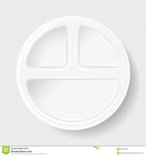 Disposable Plates With Sections by Disposable Plastic Plate With Three Sections Royalty Free