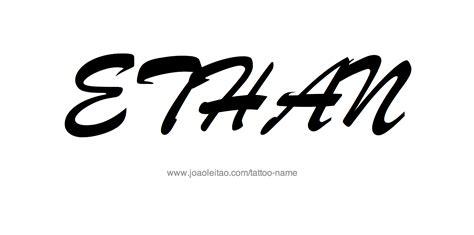 ethan tattoo ethan name designs
