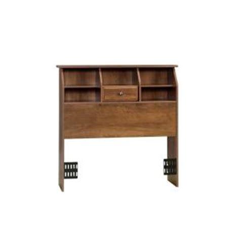 sauder bookcase headboard sauder shoal creek collection oiled oak twin size bookcase