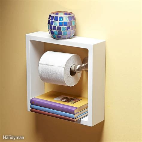 toilet paper shelf clever and useful bathroom storage tips the family handyman