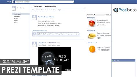 prezi templates for business plan social media prezi template prezibase