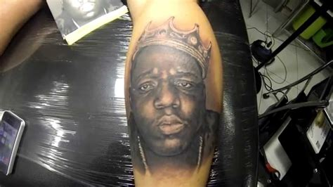 biggie smalls tattoo biggie smalls portrait