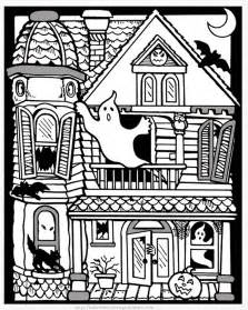 haunted mansion coloring pages halloween colorings