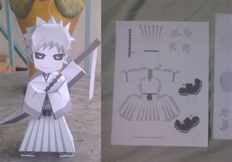 Ichigo Papercraft - hollow ichigo papercraft model sheet by brokench0rd on