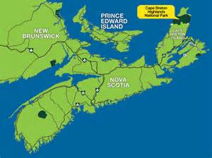 cape breton canada map parks canada cape breton highlands national park