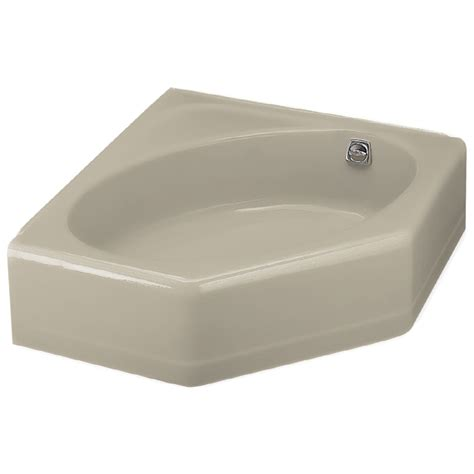 kohler corner bathtub shop kohler 48 in x 44 in mayflower sandbar corner skirted