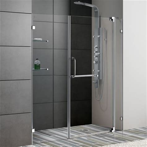 Shower Door Clearance Vigo Vg6042chcl66 66 Quot Frameless 3 8 Quot Clear Glass Shower Door With Chrome Hardware