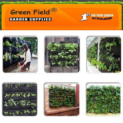green field vertical garden wall pocket planter buy