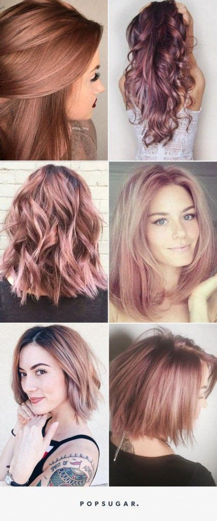 brunette rose gold hair rose gold hair brunette hairs pinterest rose gold