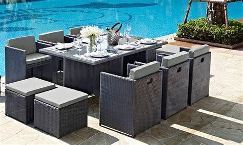 Uq Set Hk Grey 11 rattan dining set groupon goods