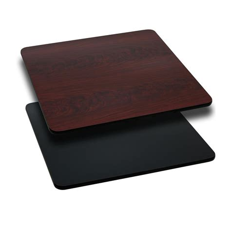 flash furniture 36 square table top with black or