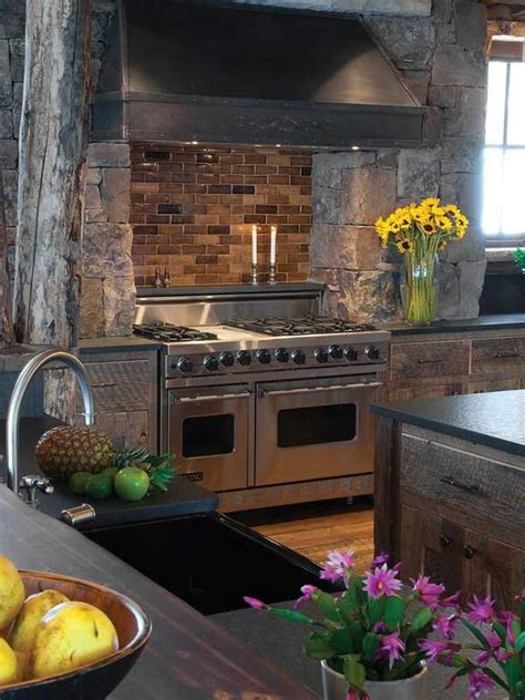 stunning stone kitchen ideas bring natural feel