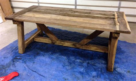 Patio Picnic Table How To Build A Rustic And Bold Farm Table