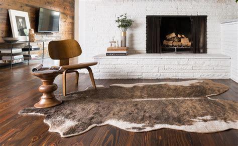 cowhide bathroom rugs brown cowhide rug woodwaves