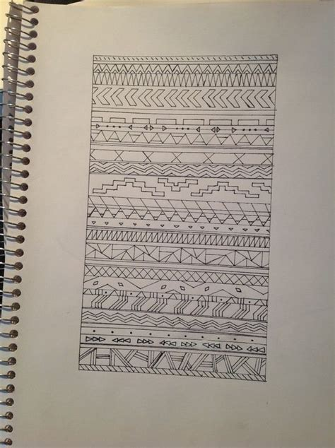 aztec pattern sketch aztec pattern drawing art pinterest pattern drawing