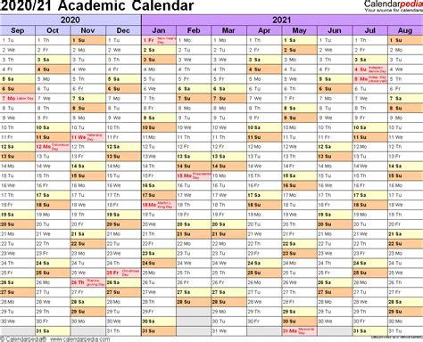 Word Academic Calendar Template