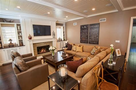 family room with sectional and fireplace photo page hgtv