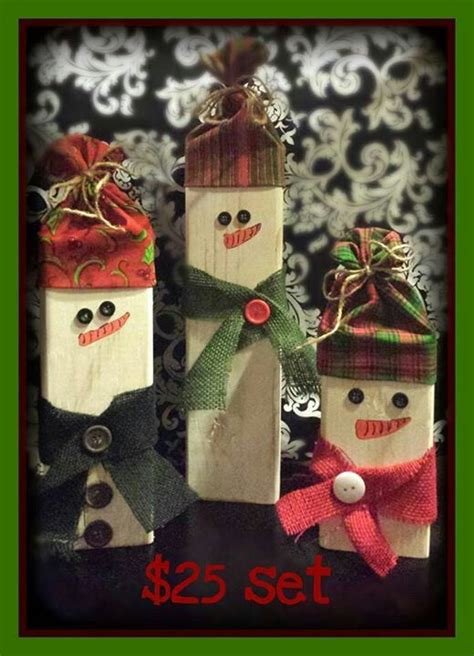 wooden snowmen christmas crafts pinterest wooden