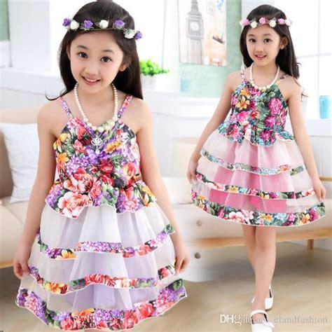Korean Satin Flo 2018 big 2015 korean new floral tutu dresses