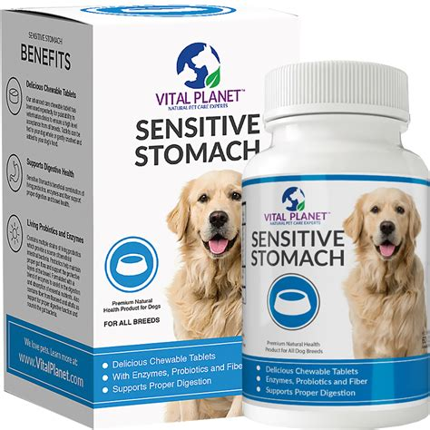 sensitive stomach vital planet 174 sensitive stomach 60 chewable tablets entirelypets