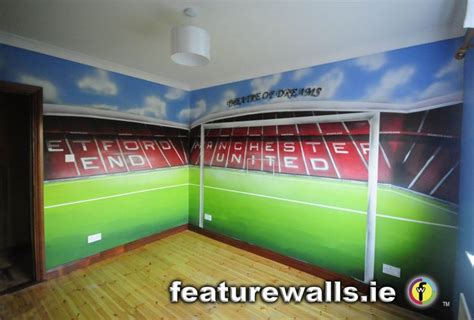 manchester united wallpaper for bedroom kids murals childrens rooms decorating kids rooms super