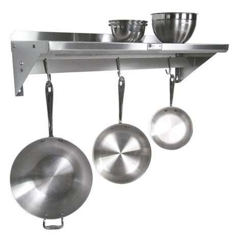 Commercial Pot Rack Boos Commercial Grade Stainless Steel Wall Shelf With