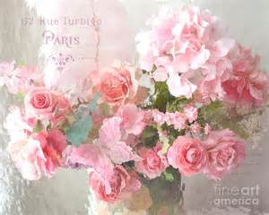 Shabby Chic Curtain Material Paris Shabby Chic Dreamy Pink Peach Impressionistic