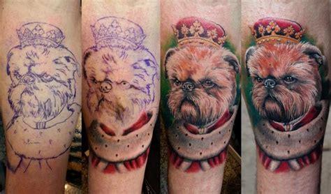tatuaż ręka fantasy pies przez anabi tattoo
