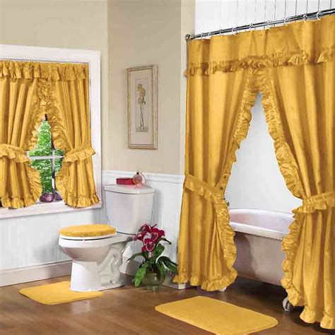 decorating with curtains gold shower curtain with valance for luxury bathroom decor