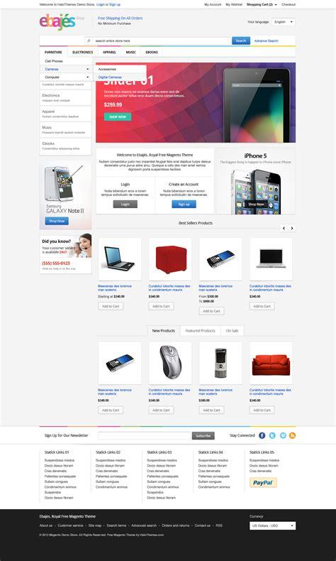 magento templates free responsive ebajes free responsive electronics magento ce theme