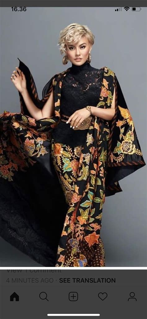 pin oleh wulan sadeva  batik dress wanita gaun inspirasi